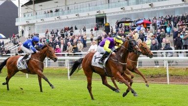 ILLUSIONIST and Sam James win at Hamilton 26/5/21Photograph by Grossick Racing Photography 0771 046 1723