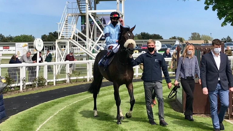 Title and David Egan after winning at Yarmouth