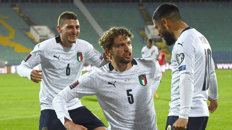 Manuel Locatelli (centre) is part of an exciting Italy midfield