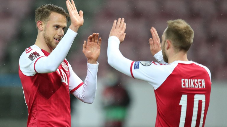 Christian Eriksen (right) is Denmark's primary creative outlet