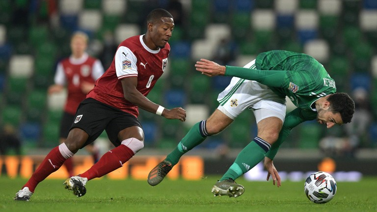 David Alaba (left) provides Austria with real quality in the final third