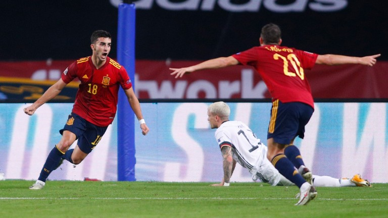Ferran Torres (left) is a big player for Spain