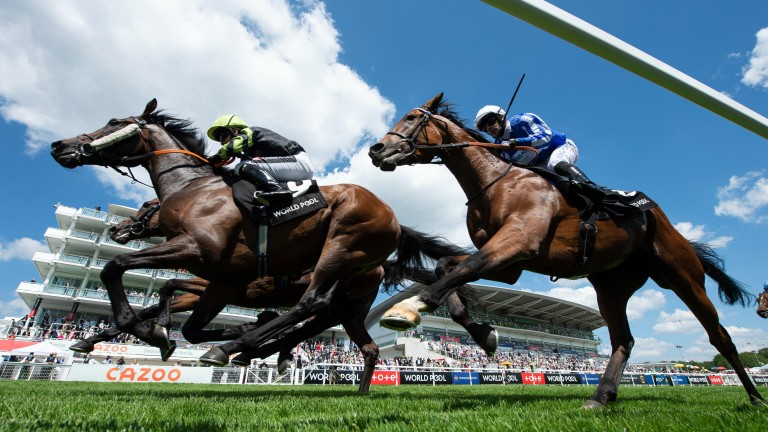 Solent Gateway (Hayley Turner) wins the 1m 2f handicapEpsom 5.6.21 Pic: Edward Whitaker/Racing Post