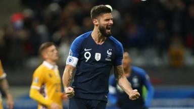 Olivier Giroud is France's second-highest international goalscorer