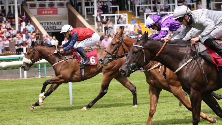 Sadmah (No.6) makes a winning start to her racing career