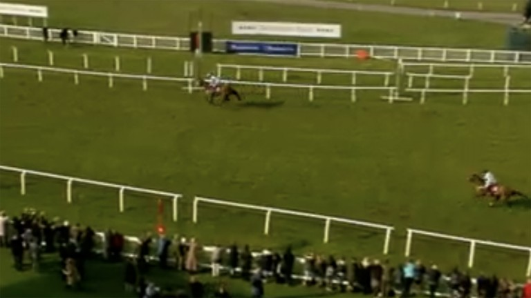 Starving Marvin crosses the line well clear despite Geraghty's best efforts on the 7-2 shot