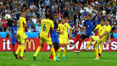Dimitri Payet blasted France to an opening win against Romania at Euro 2016