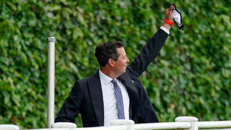 Charlie Hills celebrates after Battaash's victory in last year's King's Stand Stakes