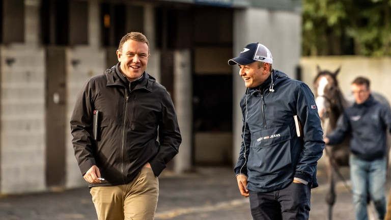 """Alex Elliott (left): """"For Zinc White to go on and be sold today is a little bit bittersweet because we think he's a very good horse"""""""