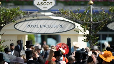 Racegoers queue up outside the gates ahead of the first day of the 2021 Royal meetingAscot 15.6.21 Pic: Edward Whitaker/Racing Post