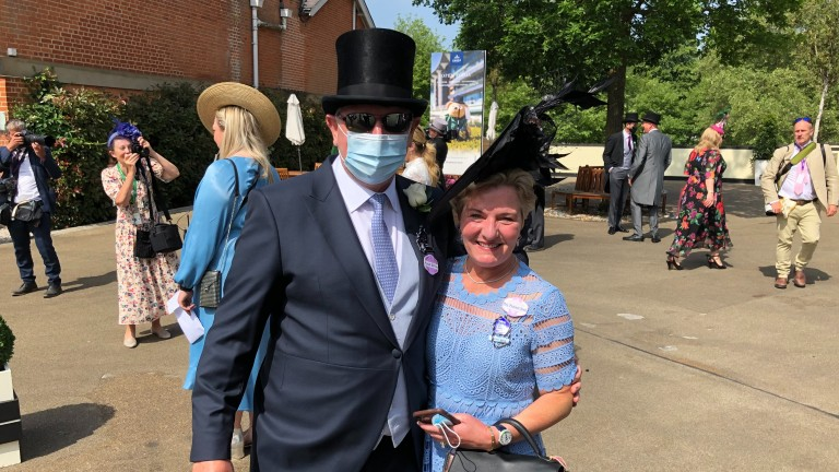 Mr and Mrs Michael Birch were the first racegoers to walk through the gates at Royal Ascot 2021