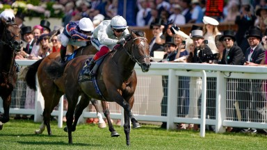 Frankie Dettori and Palace Pier pull clear in the Queen Anne