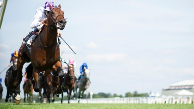 Poetic Flare and Kevin Manning win the St James's Palace StakesAscot 15.6.21 Pic: Edward Whitaker/Racing Post