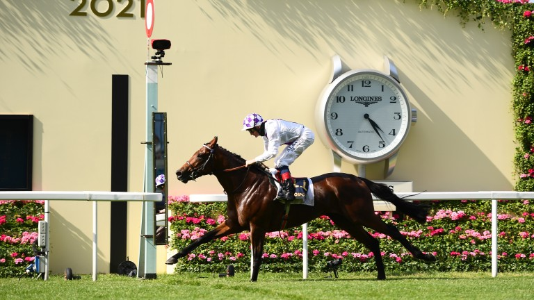Poetic Flare: was an impressive winner of the St James's Palace