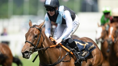 Quick Suzy (Gary Carroll) win the Queen Mary StakesAscot 16.6.21 Pic: Edward Whitaker/ Racing Post