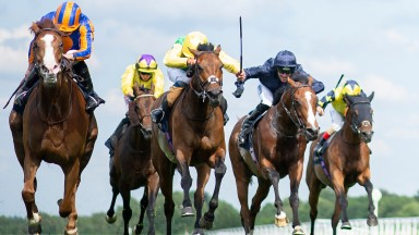 Love (Ryan Moore,left) wins the Prince Of Wales's StakesAscot 16.6.21 Pic: Edward Whitaker/ Racing Post