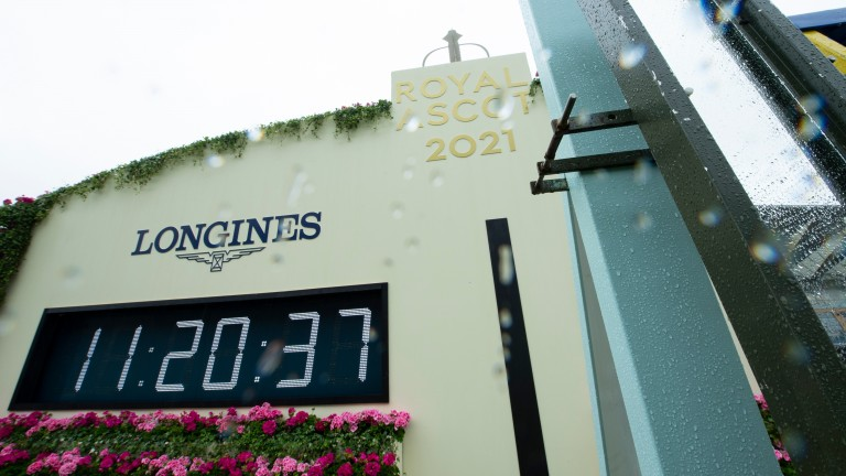 Raining at Royal Ascot: the weather has wreaked havoc on Friday, with the going now soft, heavy in places