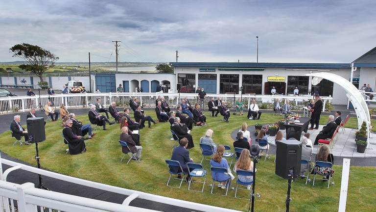 The parade ring at Tramore was transformed into an outdoor event centre for the occasion
