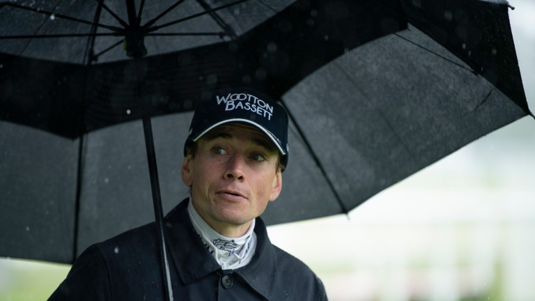 """Jockey Ryan Moore out on the track at Royal Ascot: """"It's okay. I've ridden in a lot worse"""""""