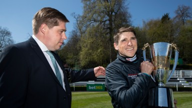 Dan and Harry Skelton celebrating again Pic: Edward Whitaker/Racing Post