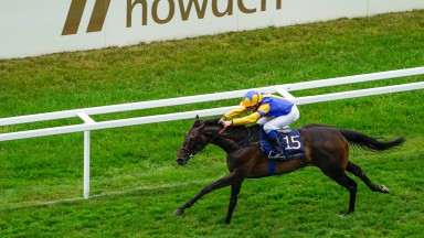 ASCOT, ENGLAND - JUNE 19: William Buick riding Wonderful Tonight win The Hardwicke Stakes on Day Five of the Royal Ascot Meeting at Ascot Racecourse on June 19, 2021 in Ascot, England. A total of twelve thousand racegoers made up of owners and the public