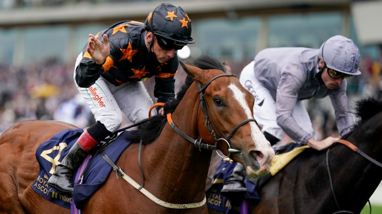 Shane Kelly rides Rohaan to victory in the Wokingham at Royal Ascot
