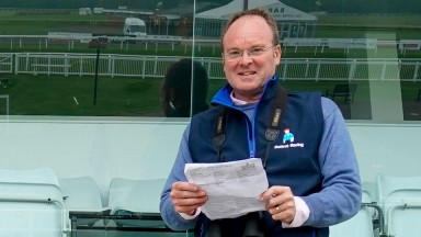 Trainer Dr Richard Newland poses at Stratford racecourse