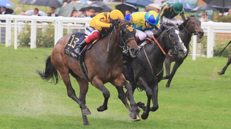 The finish to the Group 1 Commonwealth Cup, the result of which was reversed on the day