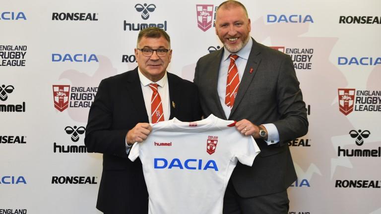 England coach Shaun Wane (left)