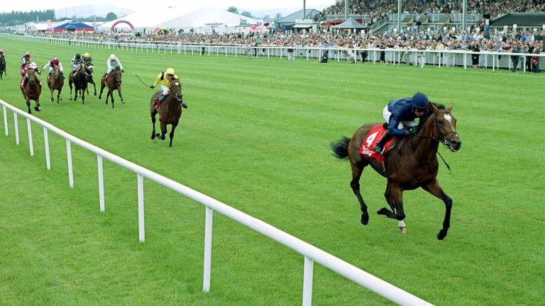 Galileo storms clear in the 2001 Irish Derby