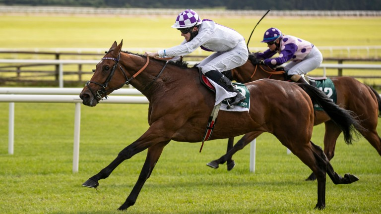Beyond Happy and Luke McAteer win the Apprentice Derby at the Curragh