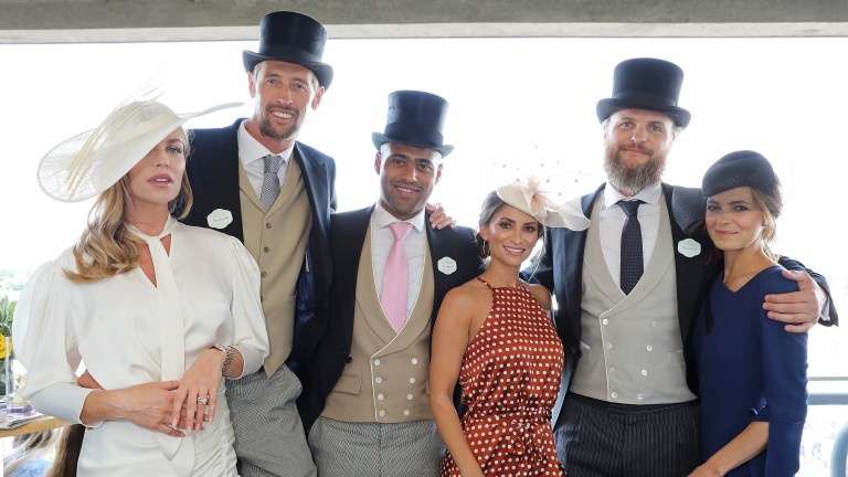 Peter Crouch (the tall one) enjoys a day at Royal Ascot