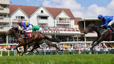 ONEFORTHEGUTTER and Dougie Costello  win at Haydock Park 1/7/21Photograph by Grossick Racing Photography 0771 046 1723