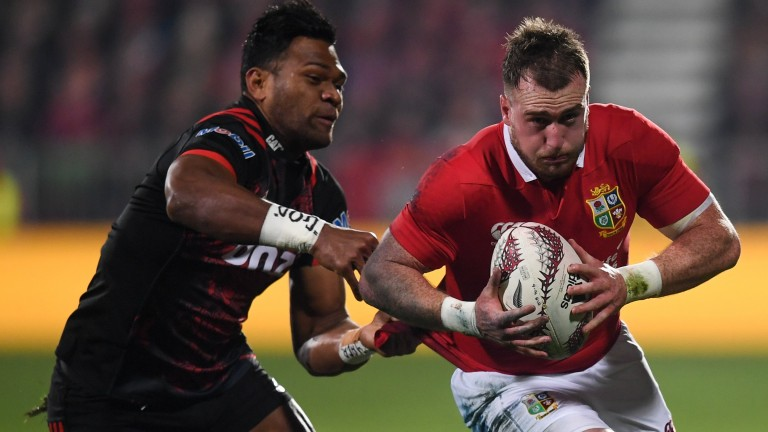 Stuart Hogg in action on the 2017 Lions tour of New Zealand