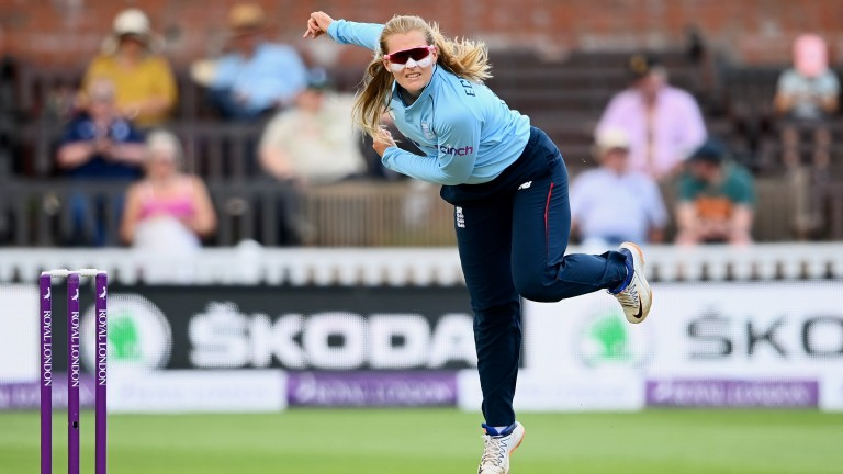 England bowler Sophie Ecclestone