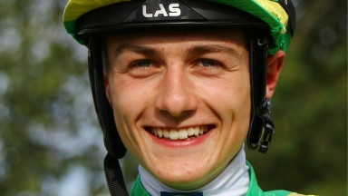"""Jockey MICHAEL PITT before having his first ride in The Komfort Partitioning and Knauf AMF Selling Stakes at Lingfield 20/6/19 Photo Ian Headington / Racingfotos.com EACH USAGE REQUIRES PAYMENTTHIS IMAGE IS SOURCED FROM AND MUST BE BYLINED """"RACINGFOTOS.CO"""