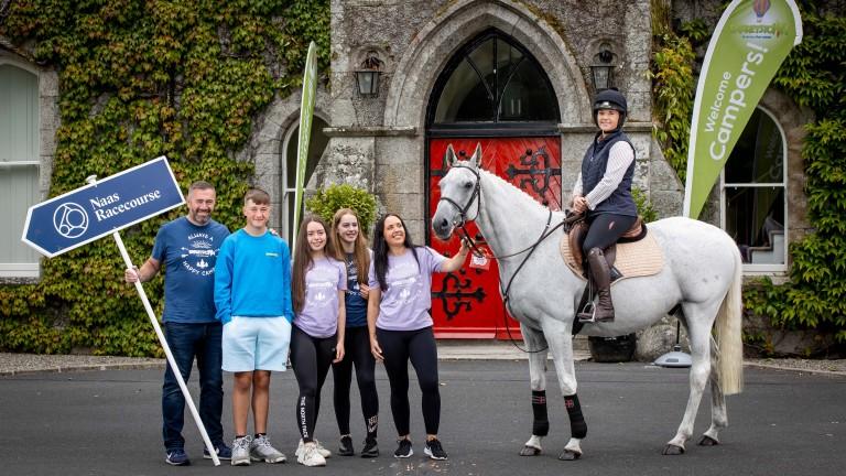 Katie Walsh and Cheltenham Festival hero Thousand Stars at Barretstown Castle