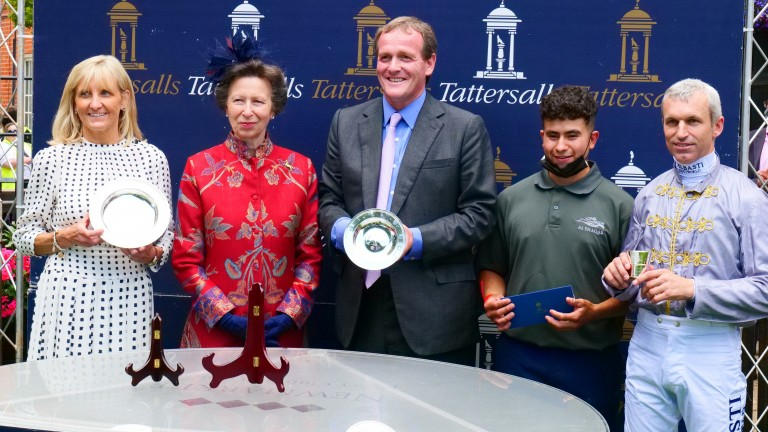 The Princess Royal: presents trophies to the connections of Lusail