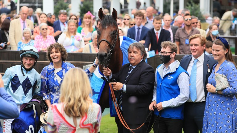 Joy for connections in the winner's enclosure after Starman's success
