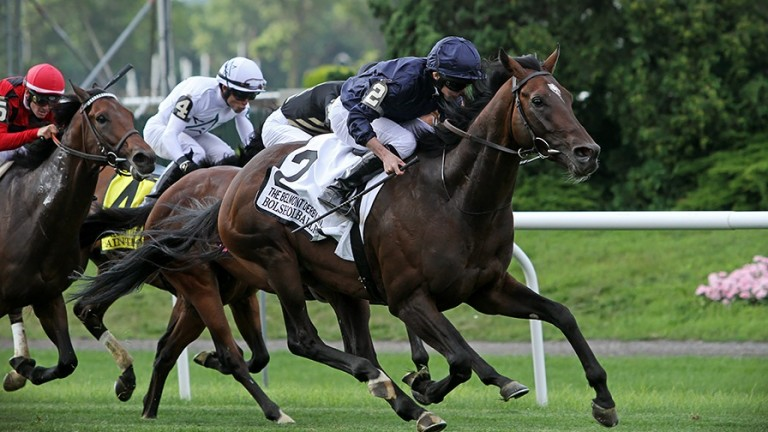 Bolshoi Ballet gains a hard-fought victory in the Belmont Derby under Ryan Moore