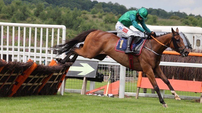 Homme D'un Soir and Daryl Jacob clear the last to win by 13 lengths