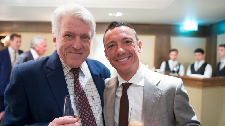 John Hanmer and Frankie Dettori, pictured at the 20th anniversary celebration of his Magnificent Seven