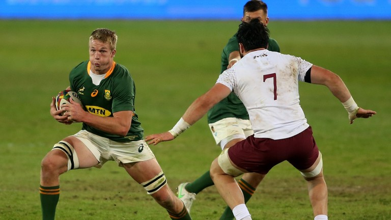 Pieter-Steph du Toit lines up against the Lions in a strong South Africa A side