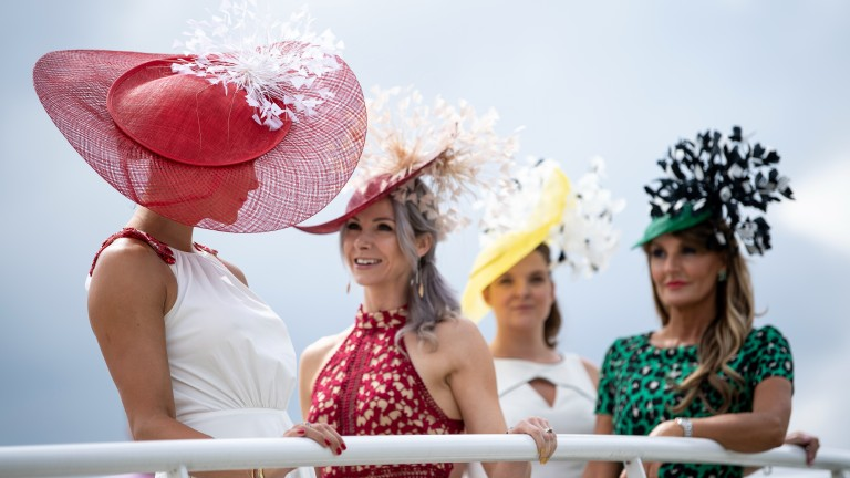 Some of the fashion on Ladies' day at Glorious Goodwood in 2019