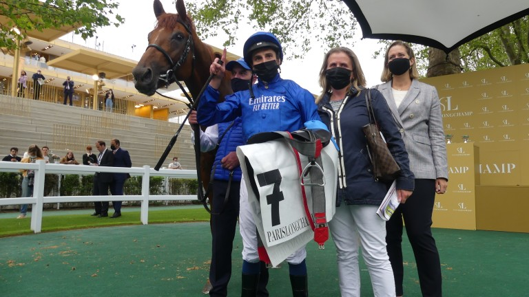 Number 1: William Buick with Hurricane Lane after their dominant display in the Grand Prix de Paris