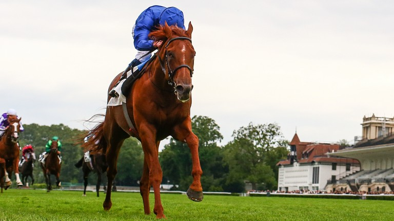 Hurricane Lane and William Buick surge clear of their rivals in the Grand Prix de Paris at Longchamp on Wednesday