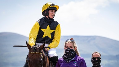 Rachael Blackmore has undergone surgery in Tralee hospital after a fall on Friday at Killarney where she had earlier won on Leac An Scail Lady (above) and Baltinglass Hill