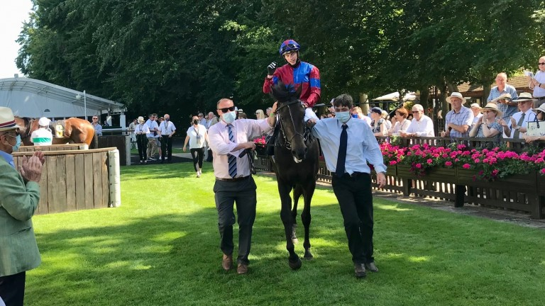 James Doyle and Golden Pass return in triumph after winning the feature