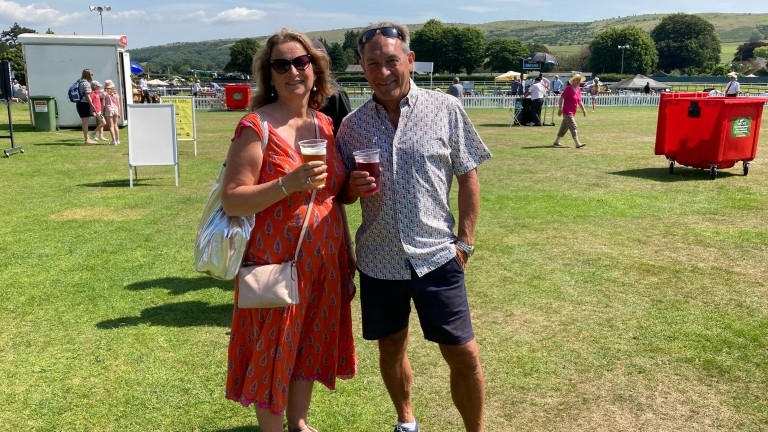 Racegoers at Cartmel on Tuesday on the first day without social distancing and mask-wearing measures in place