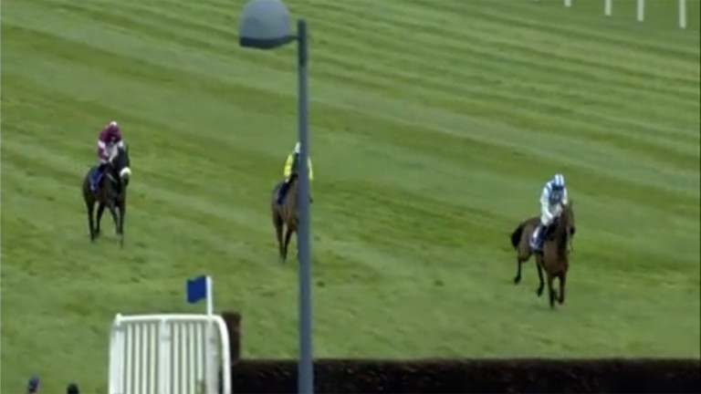 Killultagh Vic and Ruby Walsh have a commanding lead approaching the final fence